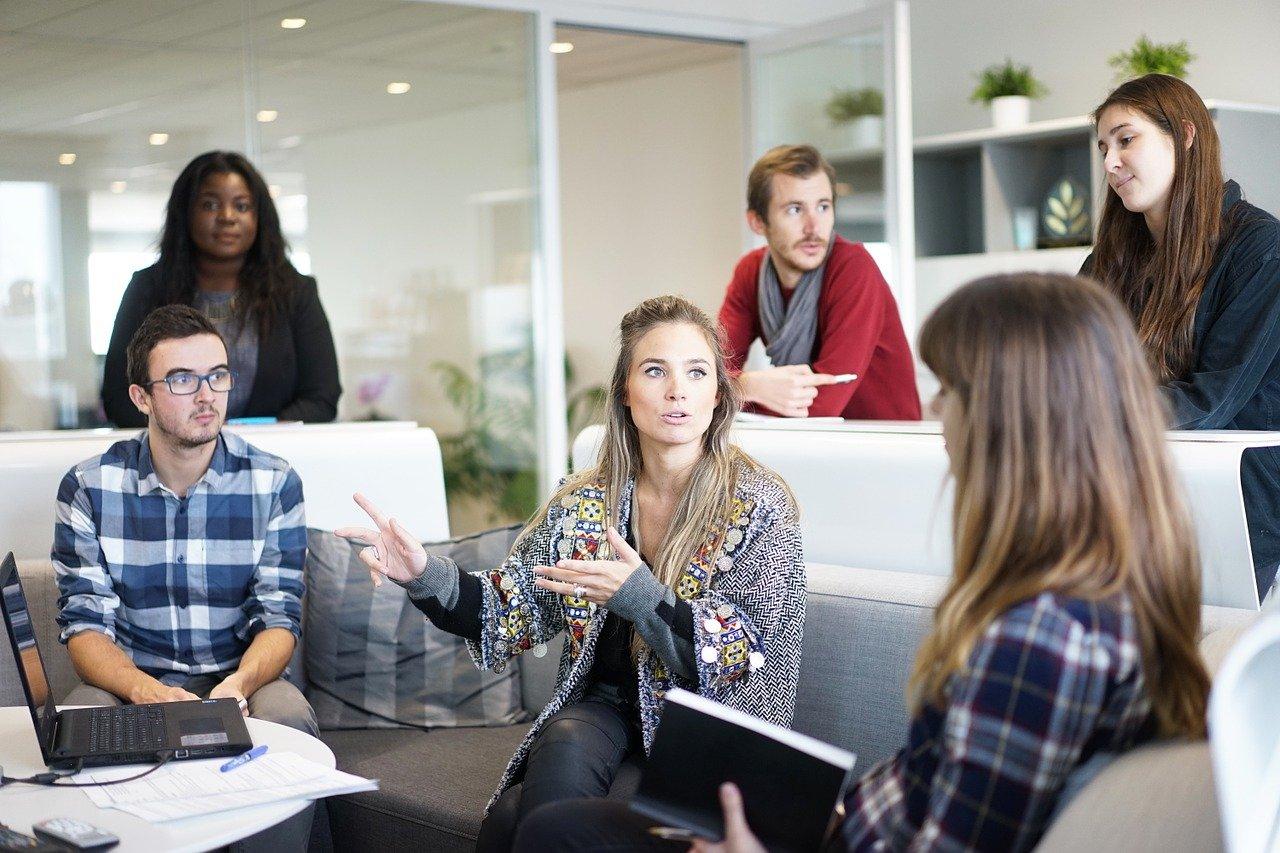 diverse team meeting