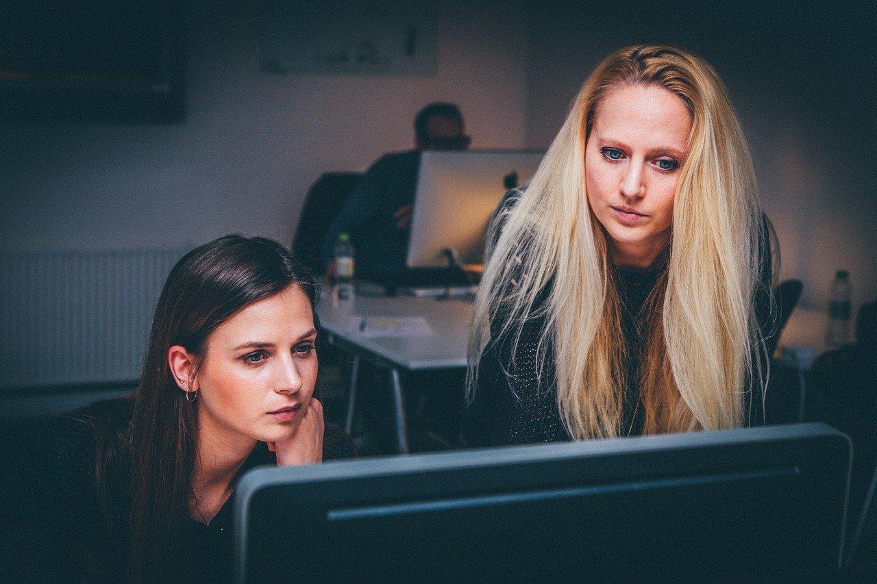 women over computer